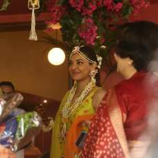 Kajal Aggarwal Looks Absolutely Beautiful At Her Haldi Ceremony (3)