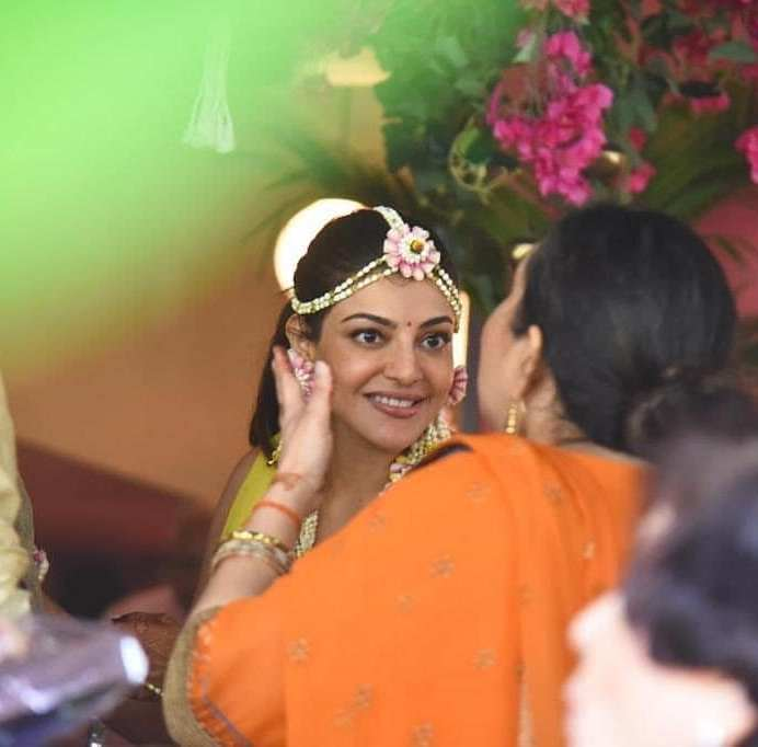 Kajal Aggarwal Looks Absolutely Beautiful At Her Haldi Ceremony (5)