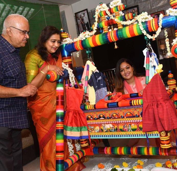 Chiranjeevi Sarja And Meghana Raj's Son's Cradle Ceremony (1)