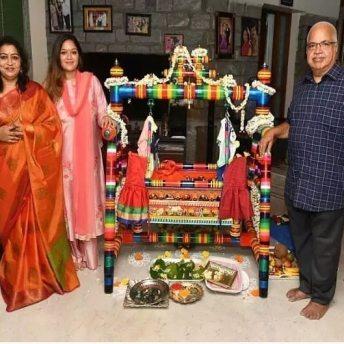 Chiranjeevi Sarja And Meghana Raj's Son's Cradle Ceremony (2)