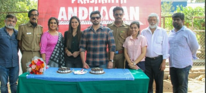 Prashanth And Simran Celebrate Their Birthdays On The Sets Of Andhaghan (5)