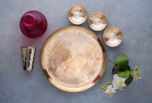 Large Plate + 3 Katoris + Glass