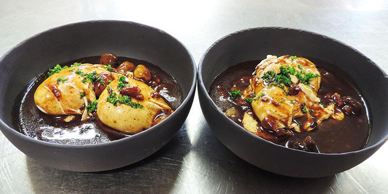 Spécialités bourguignonnes Oeufs en Meurette Restaurant