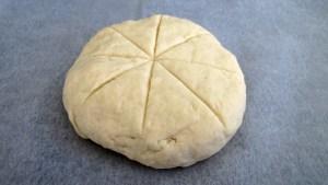 Damper Brot Laib vor dem Backen
