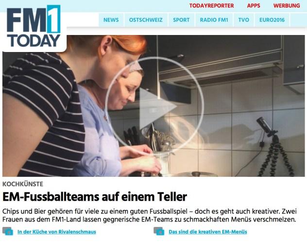 Screenshot Rivalenschmausartikel auf FM1today