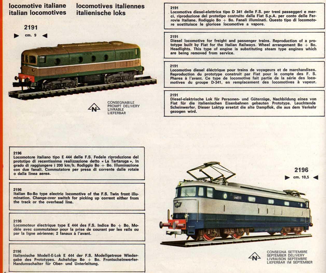 Locomotori italiani dal catalogo Atlas-Rivarossi del 1969
