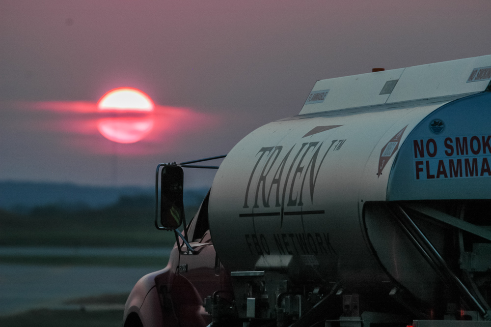 Sunset Aircraft Fueling Truck