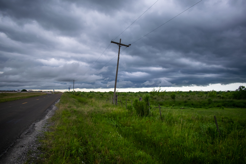 Storm Telephone Pole Field Somewhere in Texas