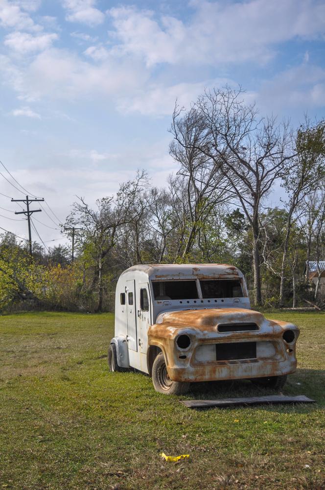 Truck Rusting In Field