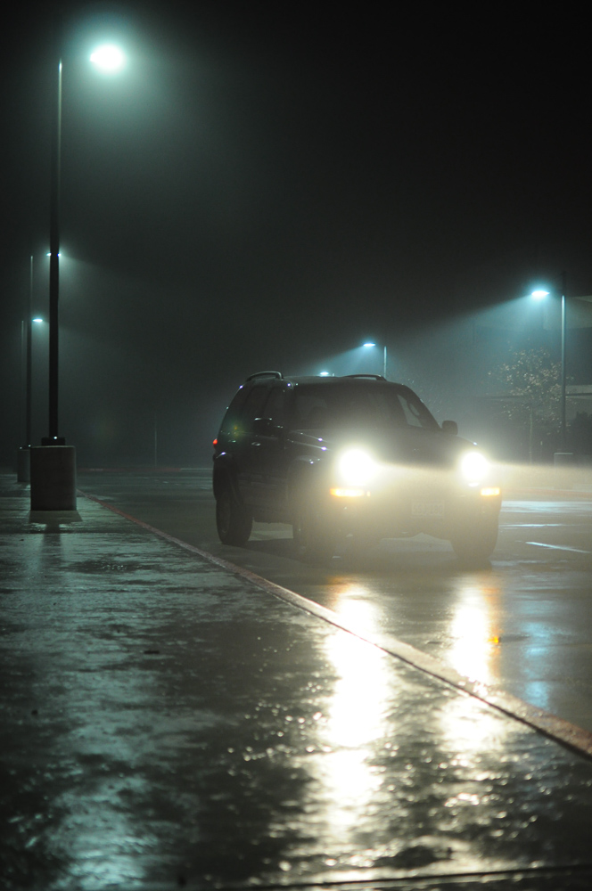 Foggy Dark Car Night
