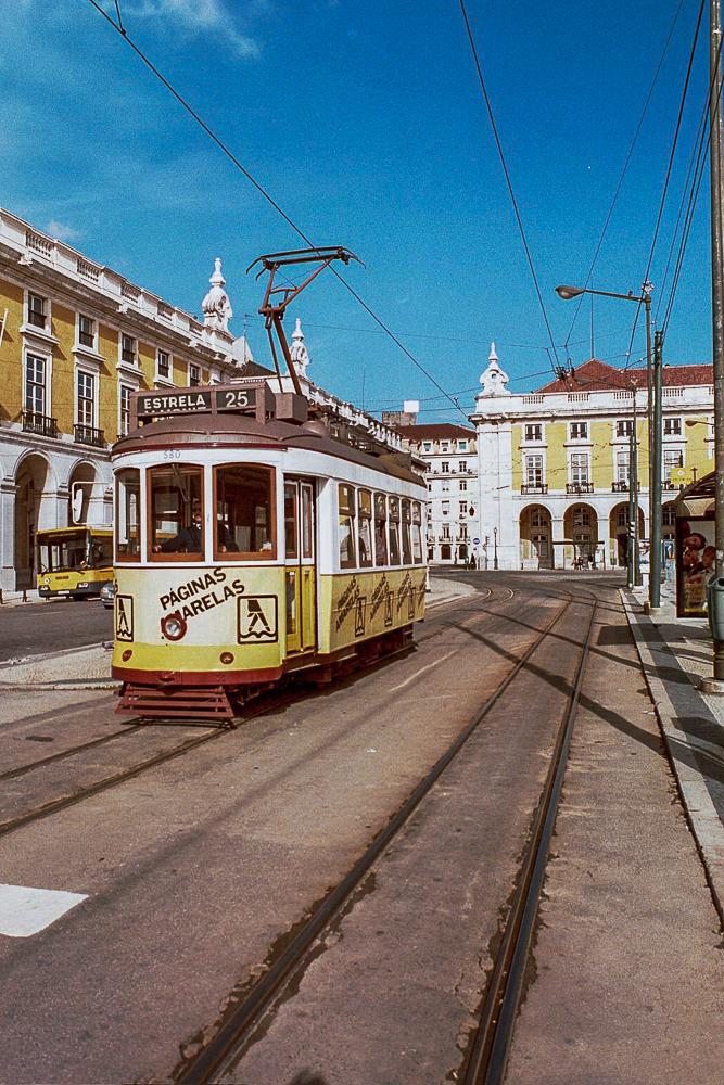 Lisbon Portugal Trolley Yellow
