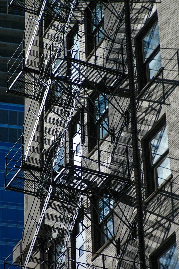 Chicago - Dramatic Fire Escapes - Sunlight - Shadows
