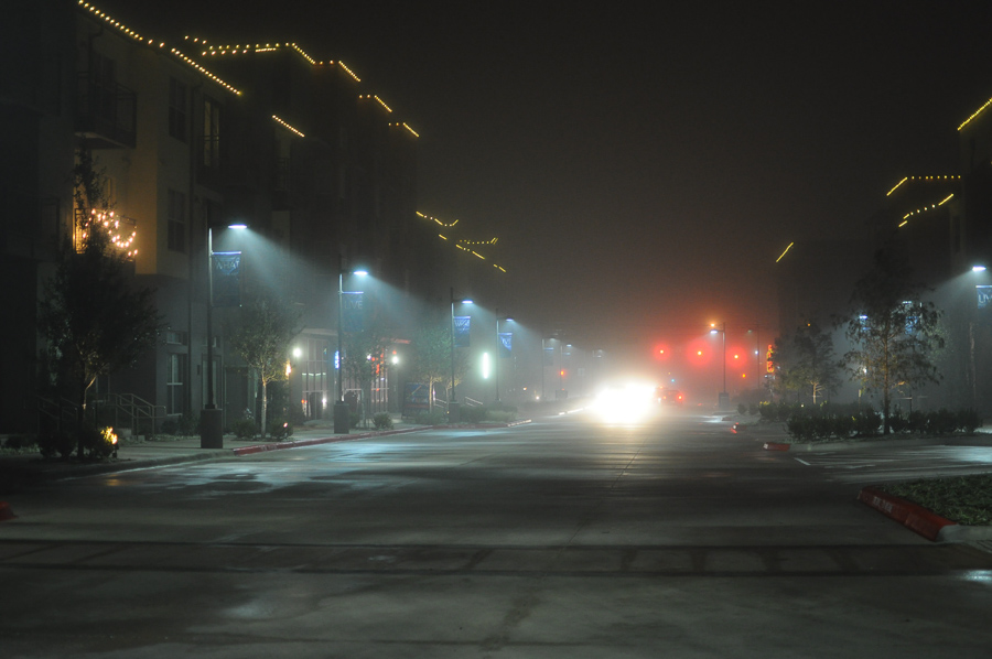Urban Fog Lights Austin Texas Mysterious