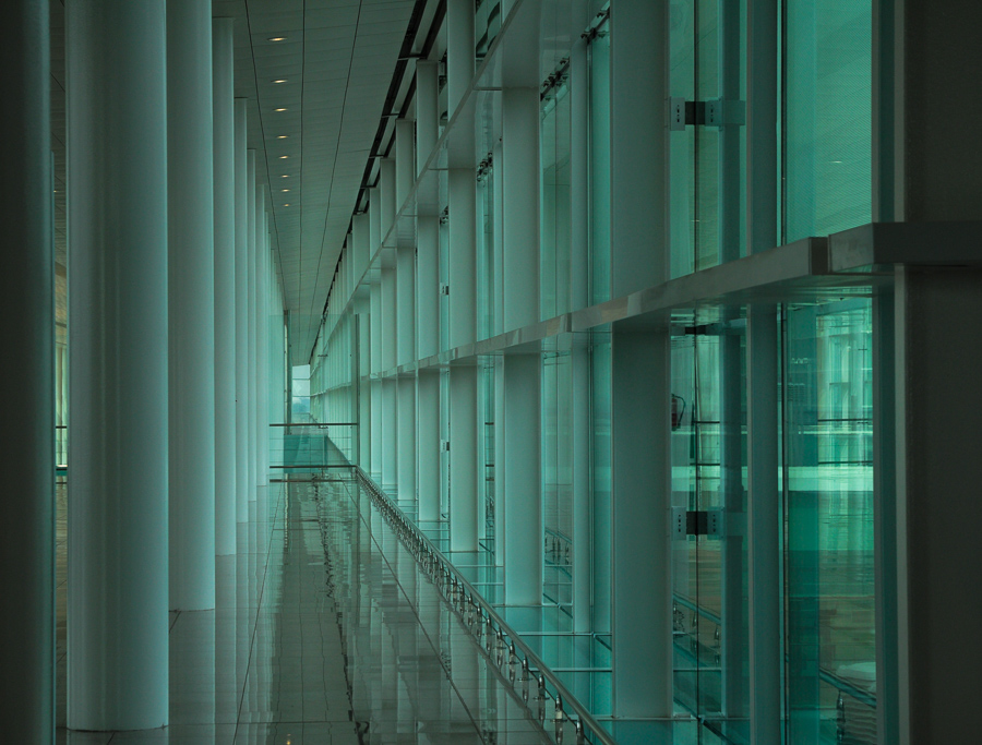 Infinite Dystopia - Barcelona Airport - Perspective