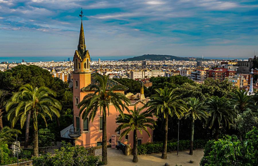 Barcelona Spain Park Guell