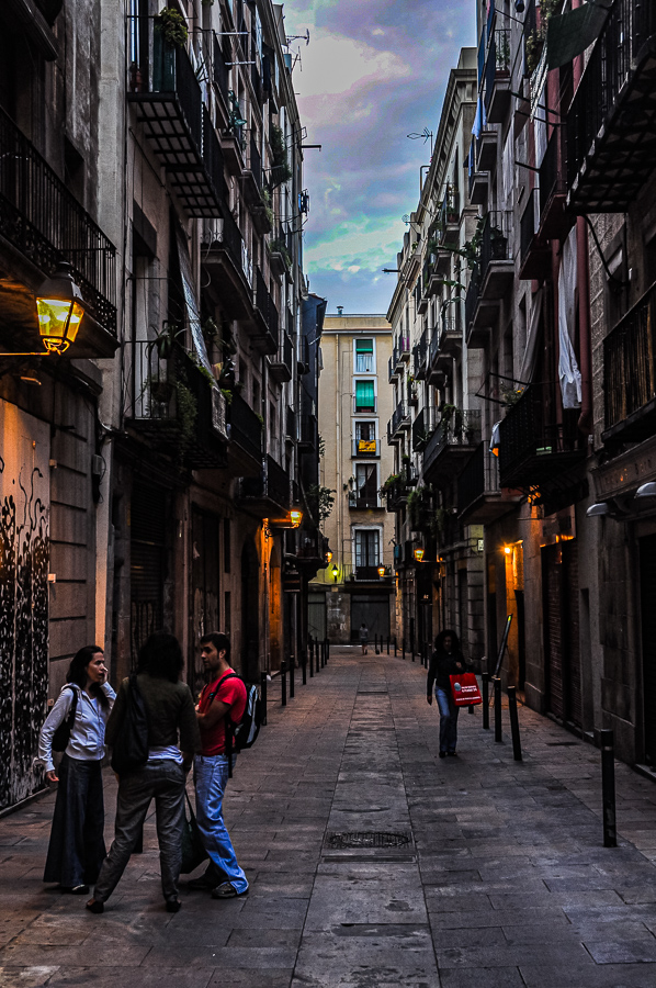 Barcelona Spain Alleyway In The Heart Of The Old City