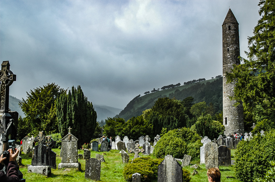 Glendalough Ireland Tower And Cemetary