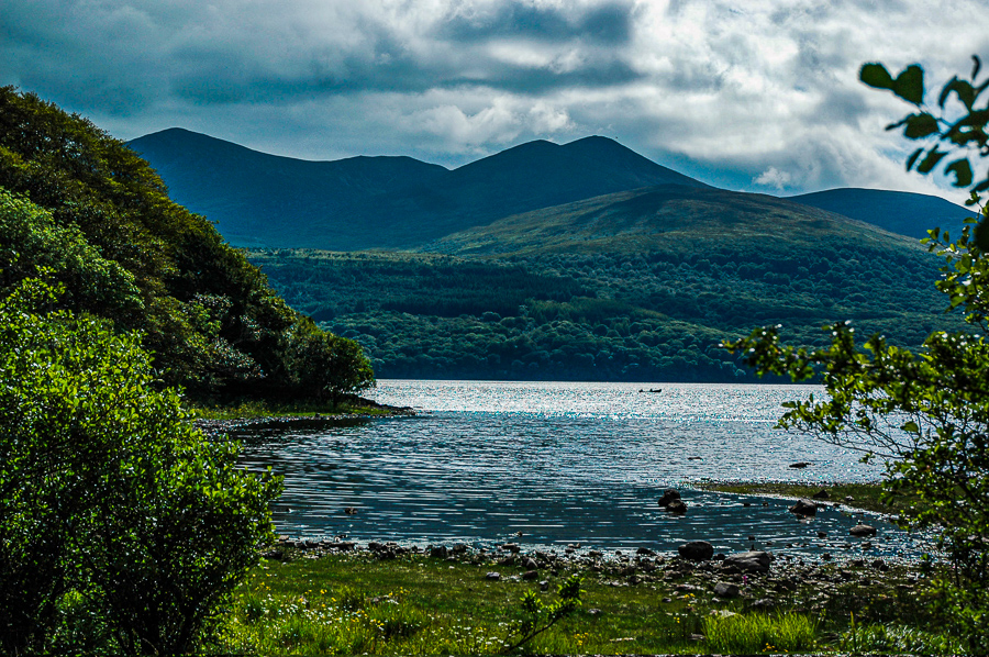 Ireland, Secret Island Lake And Mountains