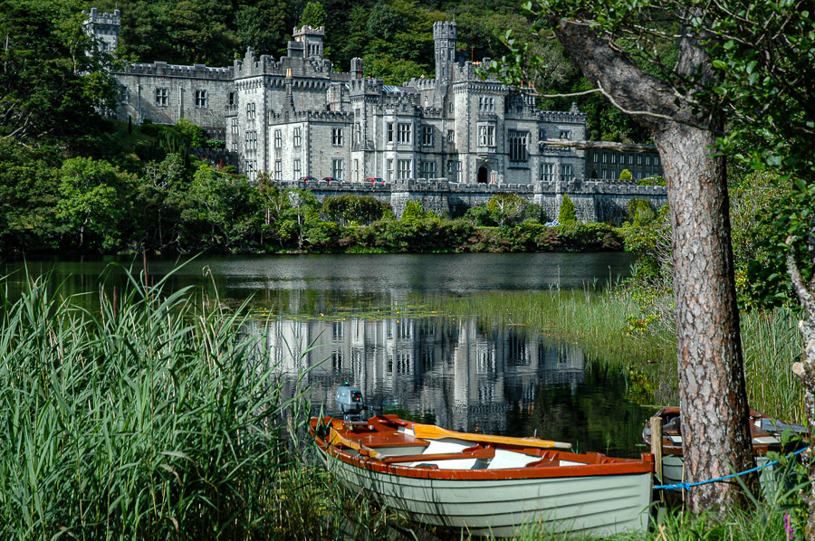 Ireland Kylemore Abbey Rowboat
