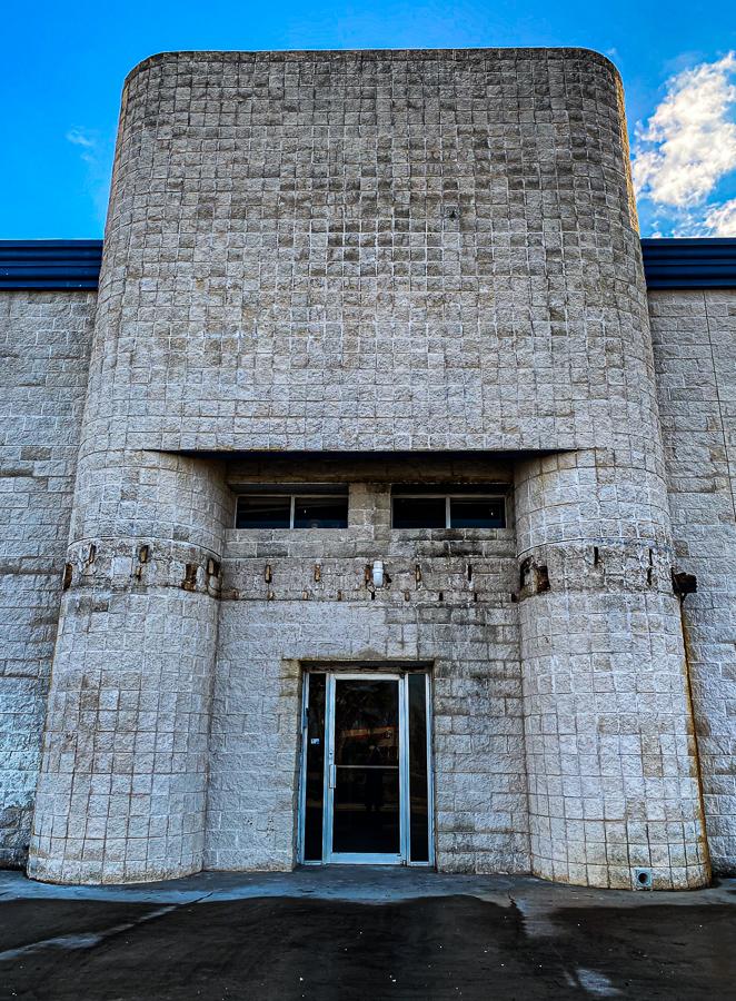 Abandoned Building - Postmodern Industrialist Facade Abandoned
