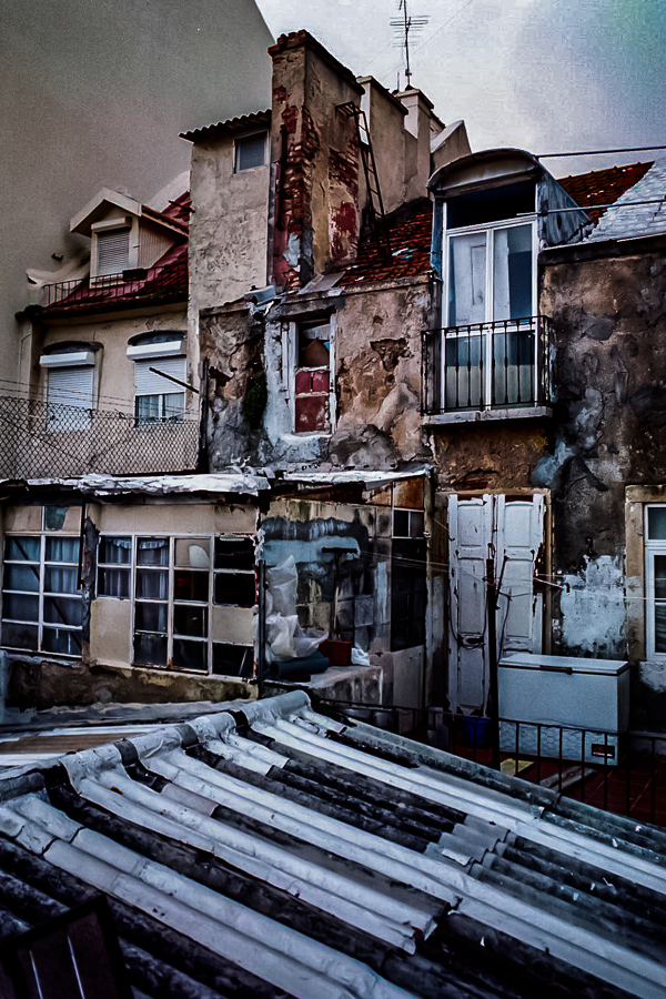 Roadside Relics - Ruined Roofs, Lisbon Portugal