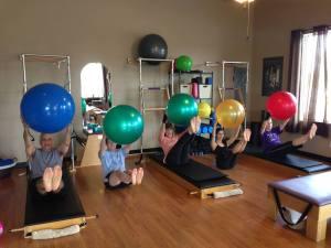 Rivercity Pilates Home Mat Workout with a Ball