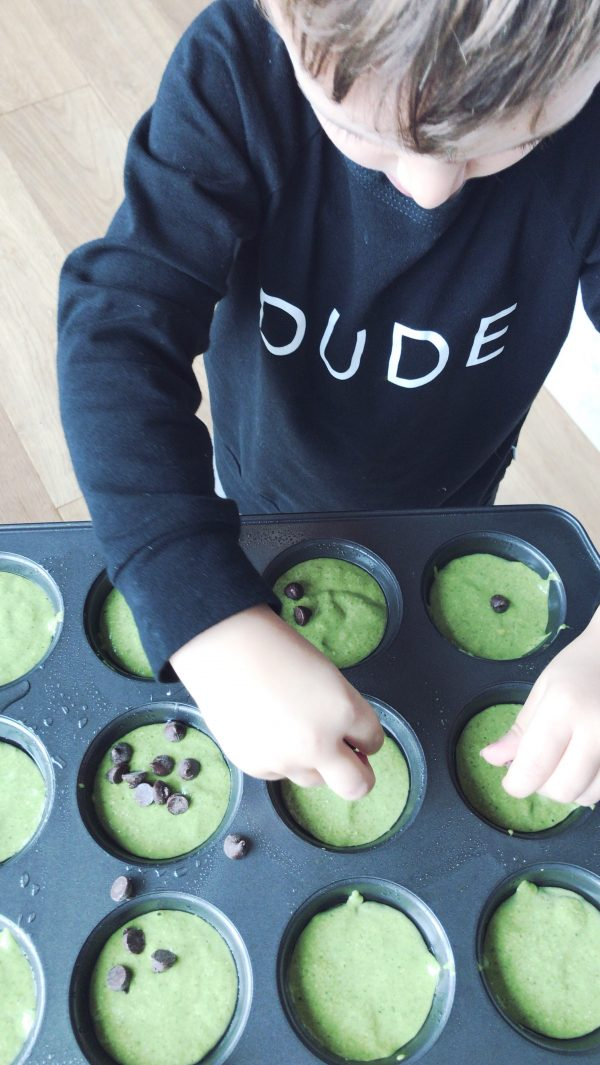 The kids will love making monster muffins as a Halloween snack
