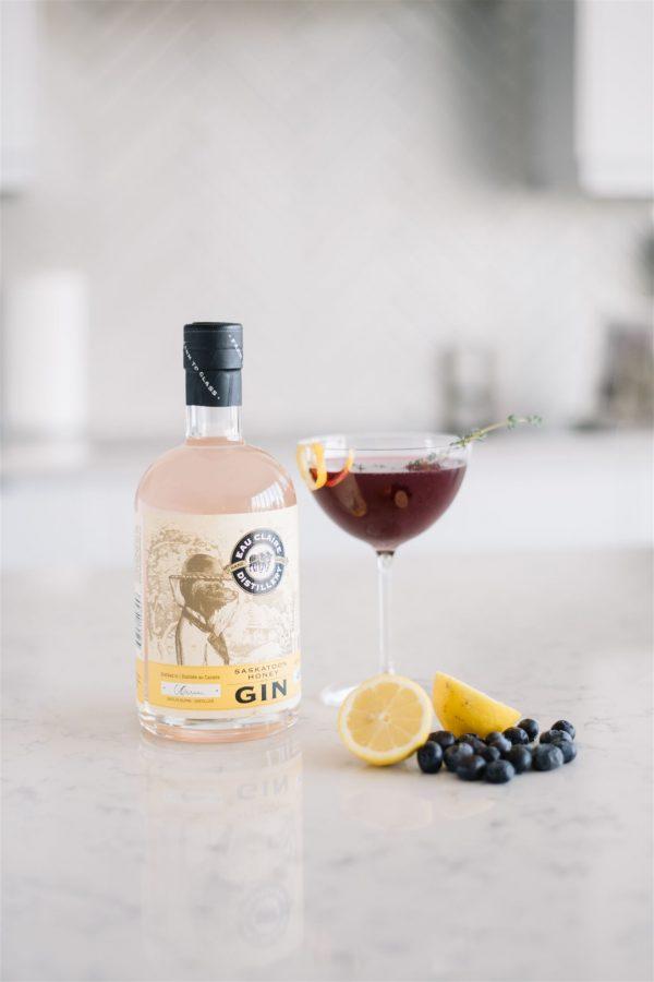 Saskatoon and Blueberry cocktail
