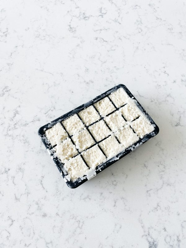 rice crutons in mould