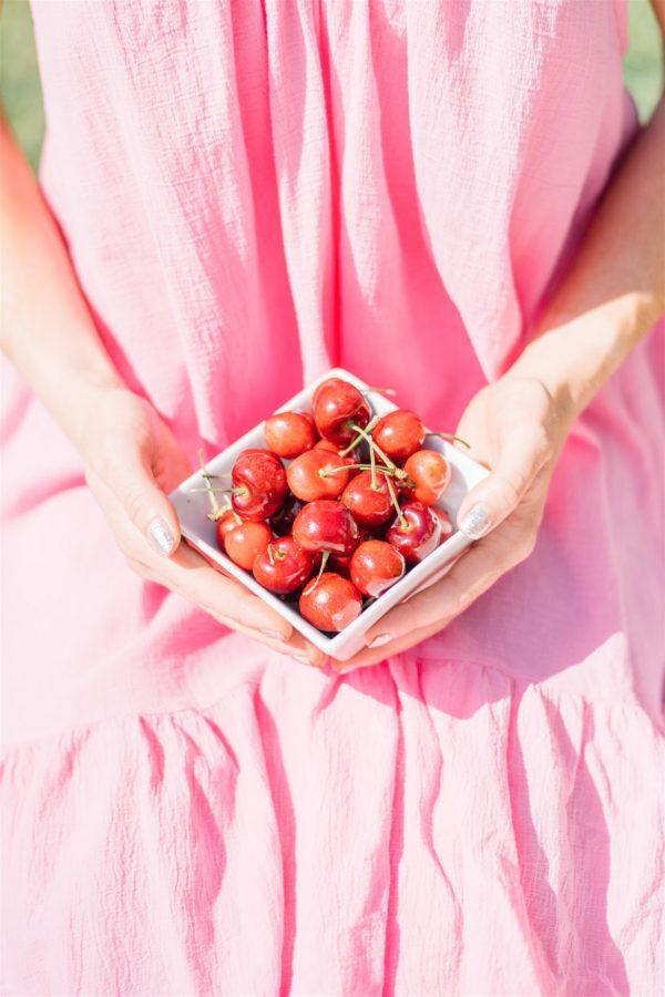 succulent and fresh BC cherries