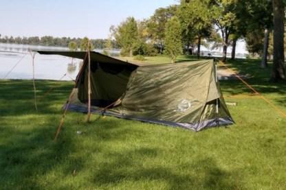 Trekking pole tent 1A
