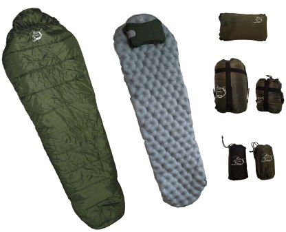 backpacking sleeping bag combo set