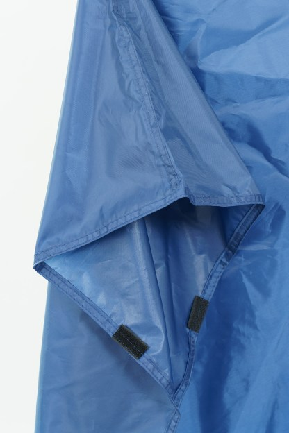 blue backpacking poncho sleeve