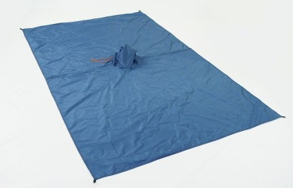blue backpacking poncho tarp