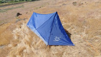one man trekking pole tent