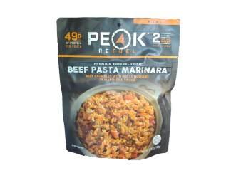 Beef Pasta Marinara - Peak Refuel Meals