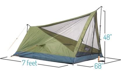 Trekker Tent 2V Dimensions