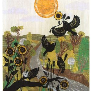 Smoky Hill Sun Song - a cut-paper collage
