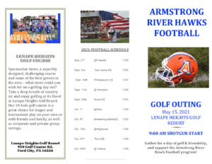 2021 golf outing brochure