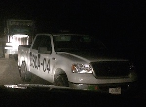 USDA car in Cutchogue on Thursday. (RiverheadLOCAL photo courtesy of  courtesy of Patrick McBride)