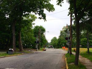 Maple Avenue near the railroad tracks. (Photo: Denise Civiletti)