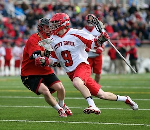 Ryan Bitzer on the field for the Seawolves this spring. (File photo: George Faella)