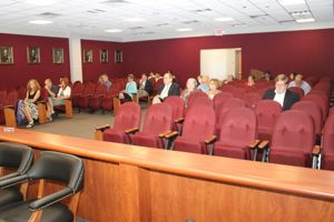 Very few people attended an information session and public hearing on PSEG-LI's 'Utility 2.0' plan Tuesday morning at the county center. (Photo: Denise Civiletti)