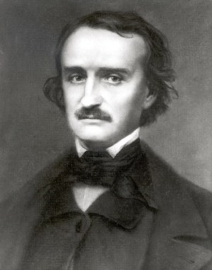Portrait of Edgar Allan Poe by Friedrich Bruckmann (1876) from the Poe Museum in Richmond, Va.