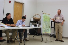 Gibbons presented a conceptual plan last night to a county advisory committee, which then heard concerns from local residents about the property's development. Photo: Katie Blasl