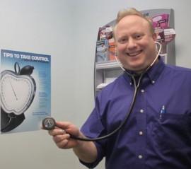 Dr. John O'Connor in his Calverton office in 2011. File photo: Peter Blasl