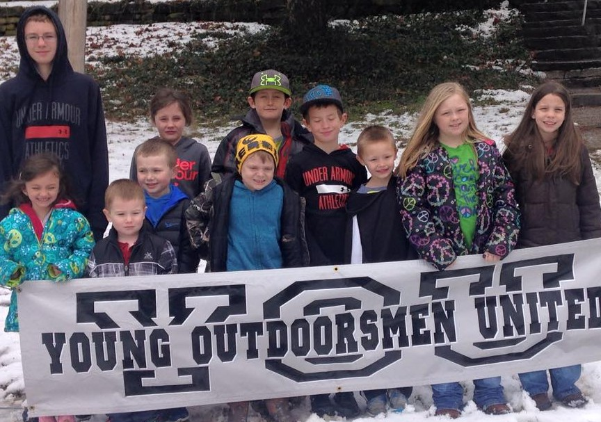 This group of kids were part of the many who attended a cave tour at Bluff Dwellers Cave despite heavy snow accumulation earlier in the week. The event was hosted by Young Outdoorsmen United.