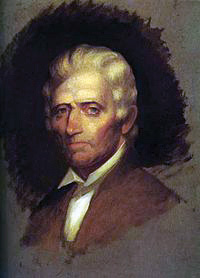 An unfinished portrait of the great American explorer, Daniel Boone.