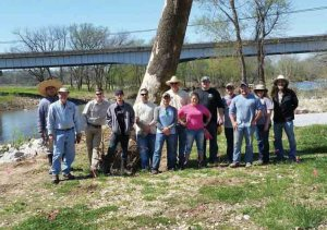 Pineville, Mo., tree planting with Tyson Foods volunteers.