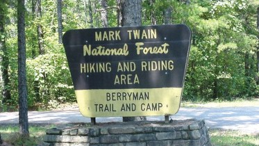 Berryman Trail and Campground Sign